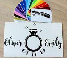 Personalised Wedding Canvas Post Box Decorating Sticker Vinyl Decal Adhesive Blc