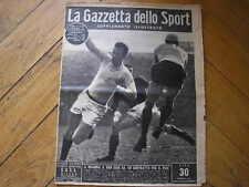 BOLOGNA MILAN VANZ DE GREGORI GAZZETTA SPORT SUPPLEMENTO ILLUSTRATO 52 1948