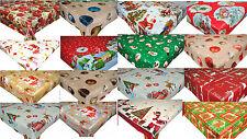Christmas Wipe Clean PVC Vinyl  Oilcloth Tablecloth Xmas 2017