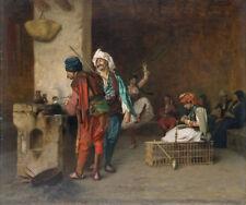 "Jean-Leon Gerome : ""Cafe House, Cairo"" (1884 or earlier) — Giclee Fine Art Print"