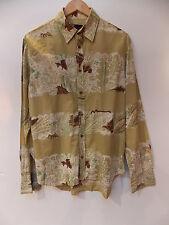 Diesel Long Sleeve Hawaiian Print Shirt BN Designer Mens Top Clothing