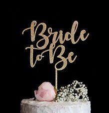 Bride To Be Cake Topper Bridal Shower Cake Topper Bachelor Gold Silver Glitter