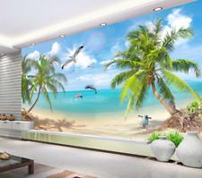 3D Plage Animaux 76 Photo Papier Peint en Autocollant Murale Plafond Chambre Art