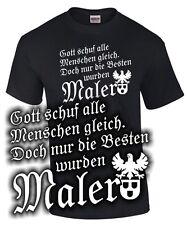 Fun T-Shirt NUR DIE BESTEN WURDEN MALER Lackierer Zunft Wappen Zeichen Symbol