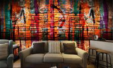 3D Red Brick Retro Graffiti 575 Wall Paper Wall Print Decal Wall AJ WALLPAPER CA