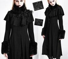 Manteau gothique lolita cintré fourrure dentelle cape hiver baroque Punkrave