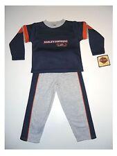 Sweatshirt mit Jogginghose Set von Harley Davidson mit Stickmotiv Blau/Grau