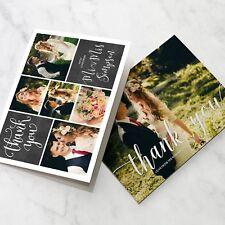Folded Wedding Thank You Cards Personalised Photo Pack (G2)