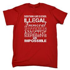 Everyday I Like Either Illegal MENS T-SHIRT tee birthday gift funny joke slogan