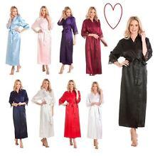 Raso Encaje Largo Bata Talla Grande Boda 10-24 Abrigo de Casa Kimono