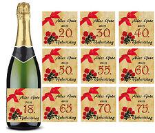 Flaschen Aufkleber Geburtstag Etikett verschiedene Alter zur Auswahl,Sektflasche