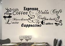WandTattoo Wandsticker WandSpruch Herz CAFE COFFEE KAFFEE Cafe  KÜCHE KF10