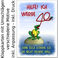 witzige Einladungen runder Geburtstag (30 40 50 60 ...) lustige Einladungskarten