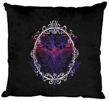 (09582-1 negro) Cojín decorativo almohadas con relleno 40 x 40 cm MARIPOSA