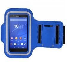 Universale Sport Armband Handy Schutzhülle BLAU für Series Samsung Flip Case