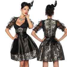 Dirndl Tracht Kleid Trachtenkleid Dirndlkleid Oktoberfest Schwarz Beige Damen