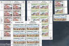 Jersey 1987 Europa Sheetlet Set Mint Nh