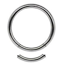 Piercing Gioielli 1,6mm Segmento Liscio Anello Titanio 7-16mm Misura con