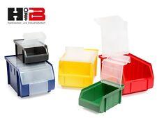 Lagerboxen ! MIT DECKEL ! Made in Germany verschiedene Mengen & Farben zur Wahl