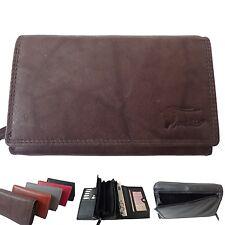 women's large Leather Wallet Photo compartment Wallet Purse long purse 217
