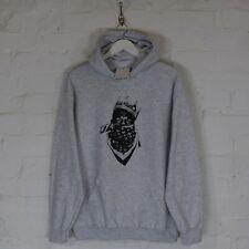 Actual Fact Biggie Scarf Notorious B.I.G.Hip Hop Grey Hoody Hooded Sweatshirt