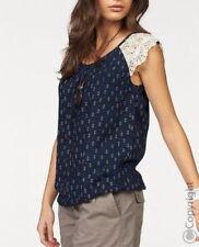 BOYSENS - webtop - bluse - spitze - Farbe : marine/weiß - neu Gr. 50,54 NEU