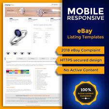 eBay 2018 Compliant Mobile Responsive eBay Auction Listing Templates 24 Colors