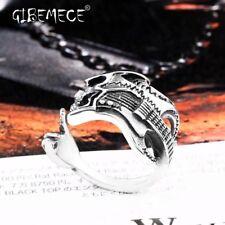 Hip Hop stainless steel The Music Guitar Skull Ring Rock Punk fashion finger