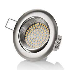Flaches Design LED Einbaustrahler Flach   320 Lumen   3.5W   230V   Einbau led