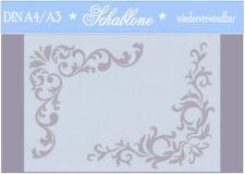 Schablone-Vintage-Shabby-A4-A3-Ecke-Ornament-7080