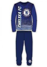 Boys Chelsea MUFC Football Club Pyjamas Boys Long Sleeve F.C Club PJS Age 4-12 Y