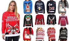 Womens Unisex Xmas Christmas Rudolph Reindeer Novelty Jumper Pullover Sweater