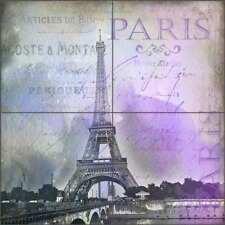 Paris Tile Backsplash Haase Ceramic Mural Eiffel Tower France Art POV-AH002