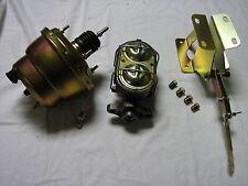 "1974-86 Jeep CJ 7"" Dual Power Brake Booster Master Cylinder + Bracket Assembly"