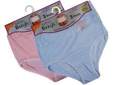 6 Ladies Full Size Cotton Rich Briefs Knickers Underwear / All Sizes