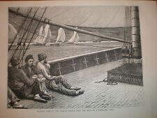 Schizzo dal ponte di una stampa Yacht concorrenti 1872