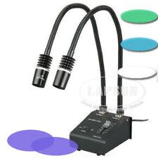 White Green Blue UV 2 LED Gooseneck Lights Illuminator For Digital Microscope UK