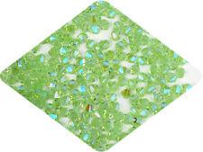 Czech MC Glass Bicone Beads (Rondell/Diamond) Chrysolite full AB, 4mm AB2X