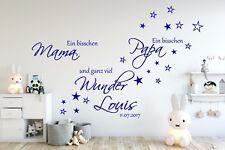 Wandtattoo Kinderzimmer AA139 Ein bisschen Mama personalisiert Namen Baby