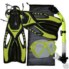 Snorkeling Diving Mask Dry Snorkel Fins Bag Gear Set