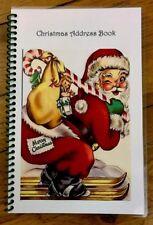 CHRISTMAS CARD ADDRESS BOOK Organizer A-Z Personalized Gift 8 yrs Santa Wink 230