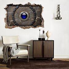 3D Blaues Juwel 85 Mauer Murals Mauer Aufklebe Decal Durchbruch AJ WALLPAPER DE