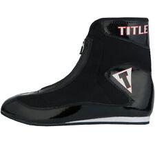 Title Boxing Enrage Lightweight Mid-Length Boxing Shoes - Black/Black