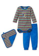 Schiesser Baby Body + Pantalón + Peluche 3tlg 100% Co Gr 62 68 74 80 86