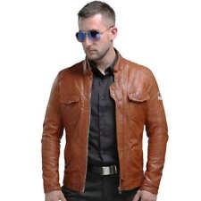Men Genuine Leather Jackets Winter Real-Leather Jacket Moto Biker Sheepskin Coat