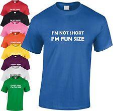 I'm Pas Court I'm amusant Taille enfants T Shirt drôle T-shirt cadeau de Noël