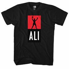 Muhammad Ali New Black T-Shirt in Sizes SM - 5XL Official Logo ALI SHIRT