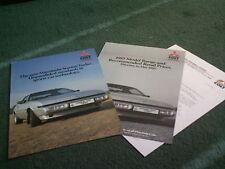 1985 Mitsubishi STARION 2000 TURBO UK BROCHURE + PRICES
