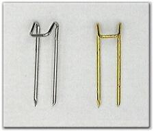 100 Nadeln Stahl silber o. vergoldet Schmucknadeln Steckklammern Aufstecknadeln