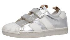 F/S 18 Momino 3134V coole Leder Sneakers Schuhe silber Gr. 32 - 40 Neu